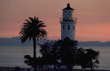 closeup lighthouse tropical