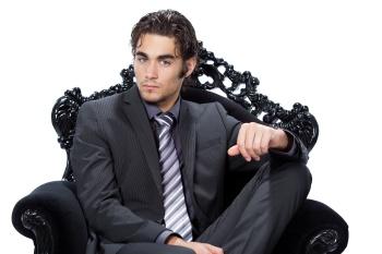 homme caucasien beaut - fauteuil baroque